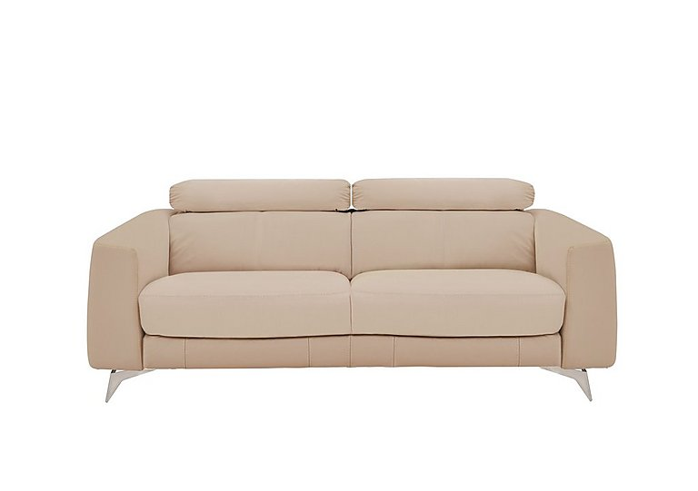 Flavio 3 Seater Leather Sofa