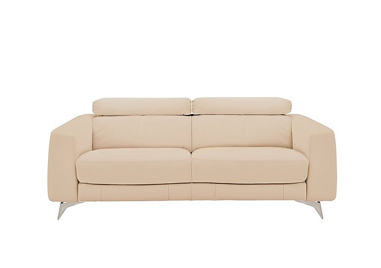 Flavio 3 Seater Leather Sofa
