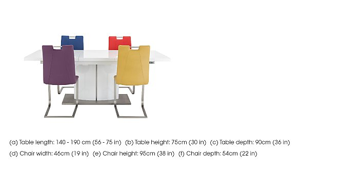 Grande Small Extending Table and 4 Chairs in  on Furniture Village