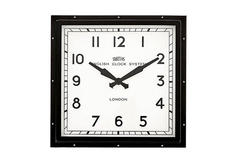 Smith's Square Clock in Black on FV