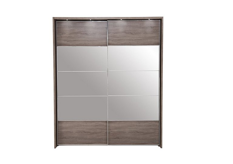 Laguna 2 Door Slider Wardrobe With Lights 210cm