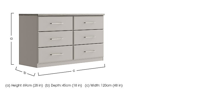 Eaton 6 Drawer Chest in  on Furniture Village