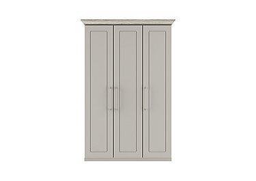 Eaton 3 Door Wardrobe in Ezgv Soft Gry-Arizona Lght Gry on FV