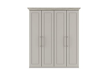 Eaton 4 Door Wardrobe in Ezgv Soft Gry-Arizona Lght Gry on FV