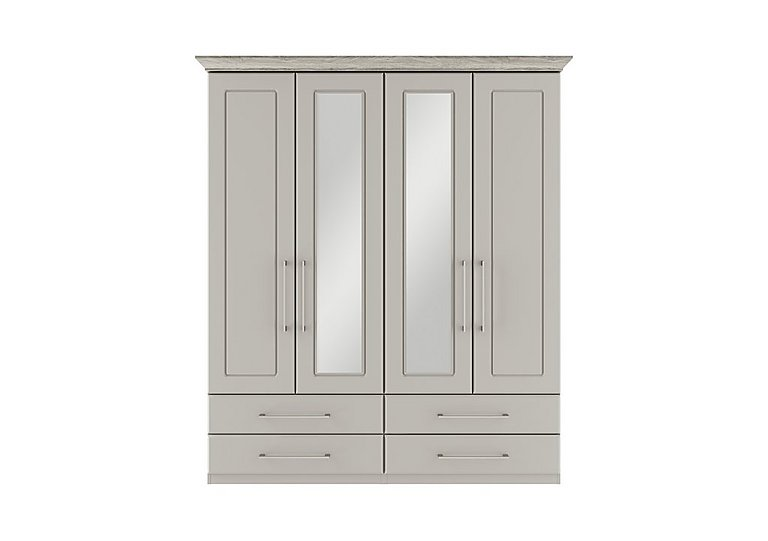 Eaton 4 Door 4 Drawer Centre Mirror Wardrobe
