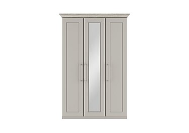 Eaton 3 Door Centre Mirror Wardrobe in Ezgv Soft Gry-Arizona Lght Gry on FV