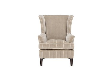 Fitzroy Fabric Wing Chair in 94966-02 Bless Stripe Sand on FV