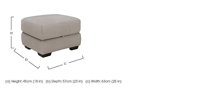 Shades Fabric Storage Footstool in  on FV