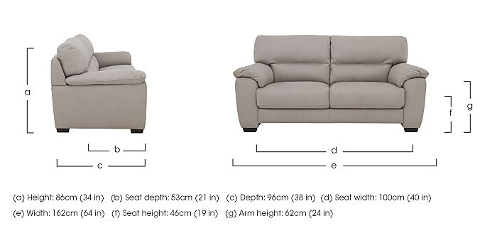 Shades 2 Seater Fabric Sofa in  on Furniture Village