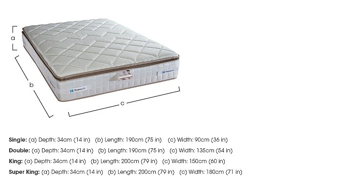 Pillow Top 2200 mattress in  on Furniture Village