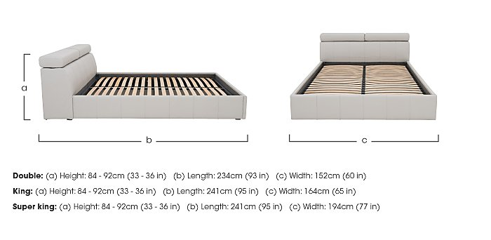 Babylon Ottoman Bedframe in  on Furniture Village