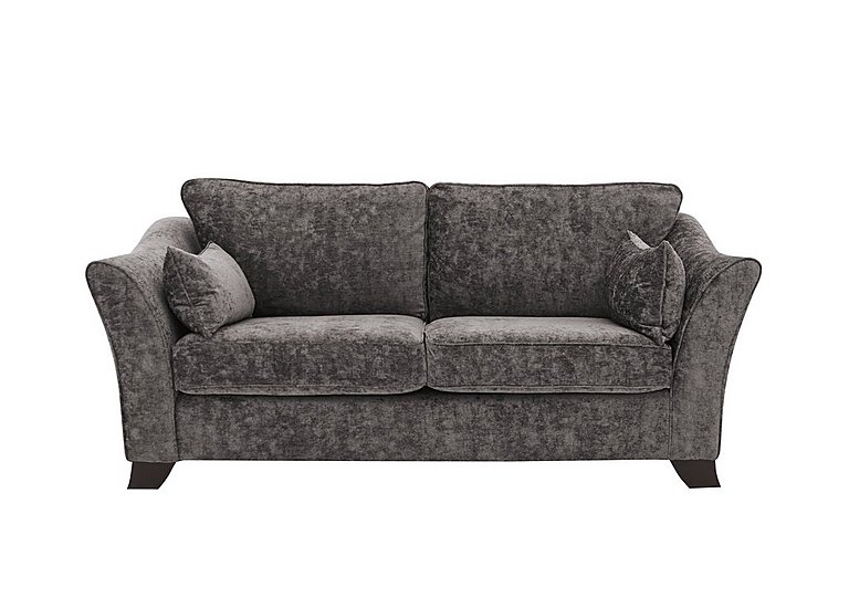 Annalise II 3 Seater Fabric Sofa in Crombie Plain Ash Dk on FV