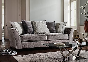 Annalise II 3 Seater Fabric Pillow Back Sofa in  on FV