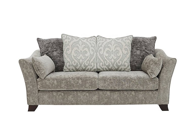 Annalise II 3 Seater Fabric Pillow Back Sofa in Crombie Plain Truffle Opt1 Dk on Furniture Village