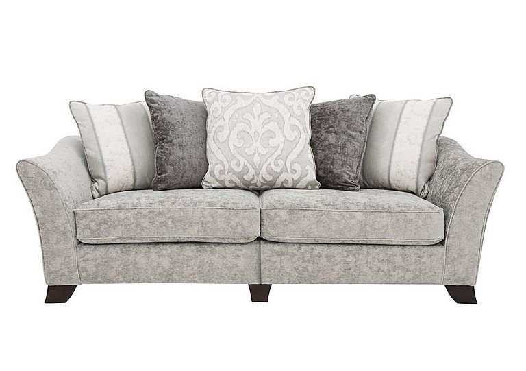 Annalise II 4 Seater Split Frame Fabric Pillow Back Sofa