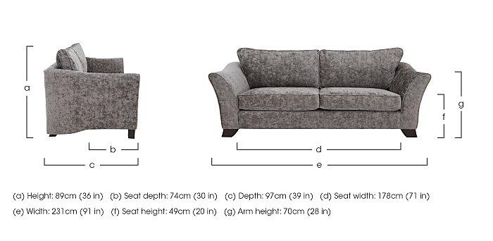 Annalise II 4 Seater Fabric Sofa in  on FV
