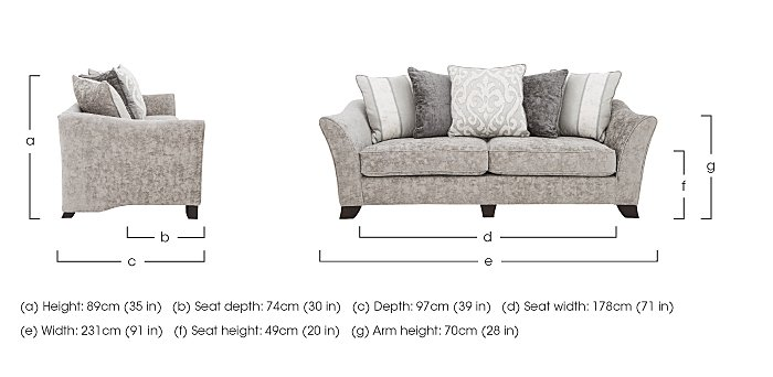 Annalise II 4 Seater Fabric Pillow Back Sofa in  on Furniture Village