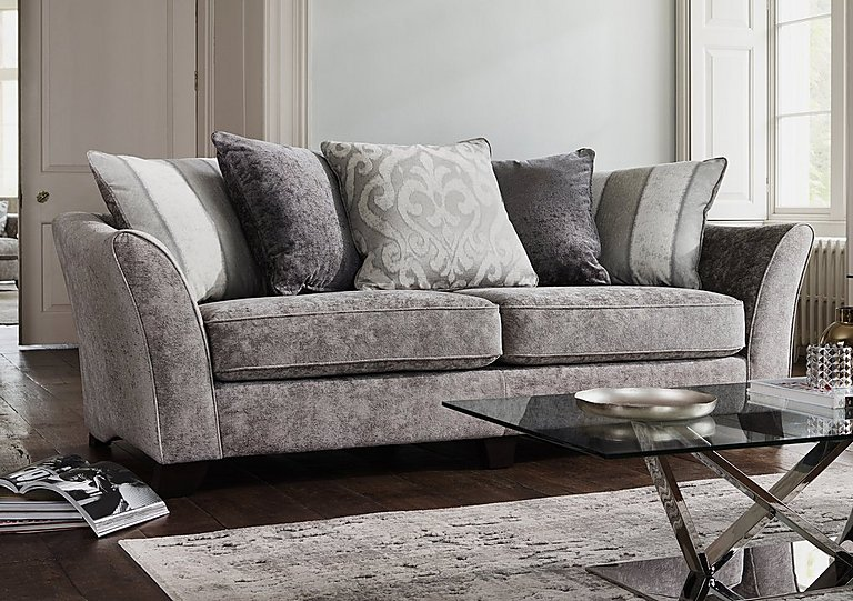 Furniture Village Annalise annalise ii 4 seater fabric pillow back sofa - furniture village