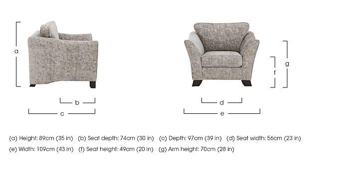 Annalise II Fabric Armchair in  on Furniture Village