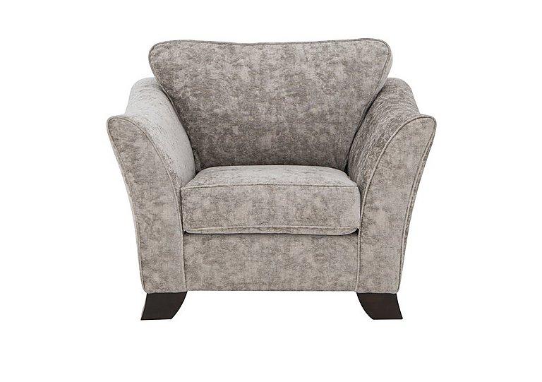 Annalise II Fabric Armchair in Crombie Plain Truffle Dk on Furniture Village