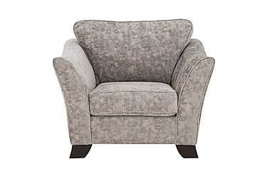 Annalise II Fabric Armchair in Crombie Plain Truffle Dk on FV