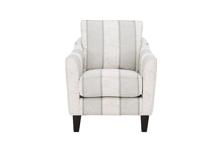 Annalise II Fabric Ladies Armchair in Camilla Stripe Ivory Dk on FV