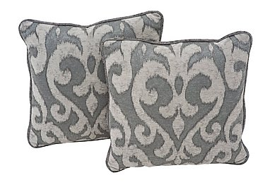 Annalise Pair Of Scatter Cushions in Camilla Damask Steel on Furniture Village