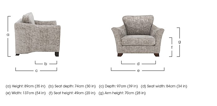 Annalise II Fabric Snuggle Chair in  on Furniture Village