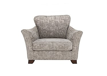 Annalise II Fabric Snuggle Chair in Crombie Plain Truffle Dk on FV