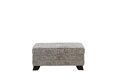 Annalise 2 Large Fabric Storage Stool in Crombie Plain Truffle Dk on FV