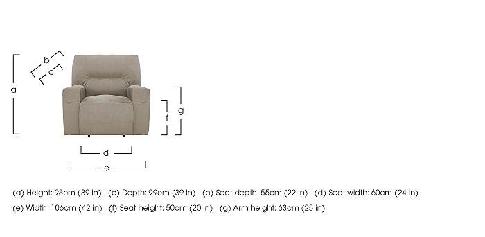 Eden Fabric Recliner Armchair in  on Furniture Village