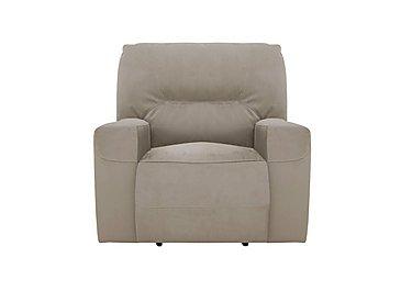 Eden Fabric Recliner Armchair in Bfa-Mad-R02 Silver Grey on Furniture Village
