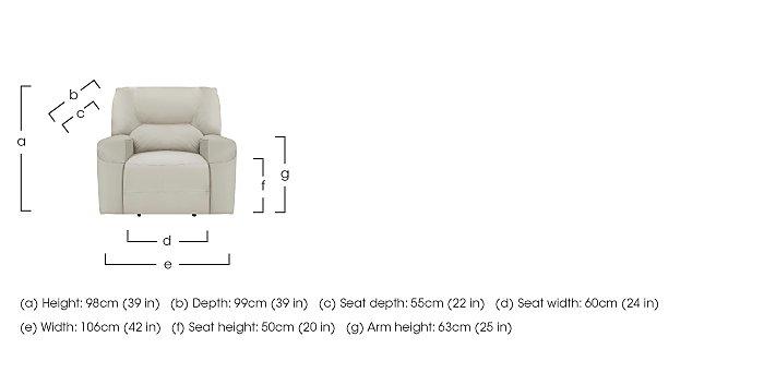 Eden Leather Recliner Armchair in  on Furniture Village