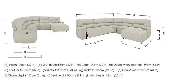 Eden Leather Recliner Corner Sofa in  on Furniture Village