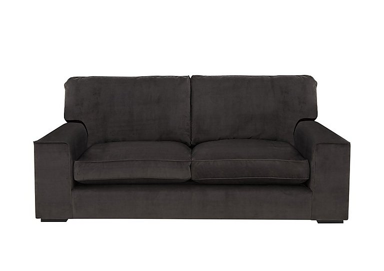 The Avenue Collection 5th Avenue 3 Seater Fabric Sofa in Plush Asphalt Bk Col 1 on Furniture Village