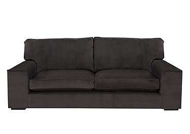 The Avenue Collection 5th Avenue 4 Seater Fabric Sofa in Plush Asphalt Bk Col 1 on Furniture Village