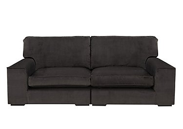 The Avenue Collection 5th Avenue 4 Seater Split Back Fabric Sofa in Plush Asphalt Bk Col 1 on FV