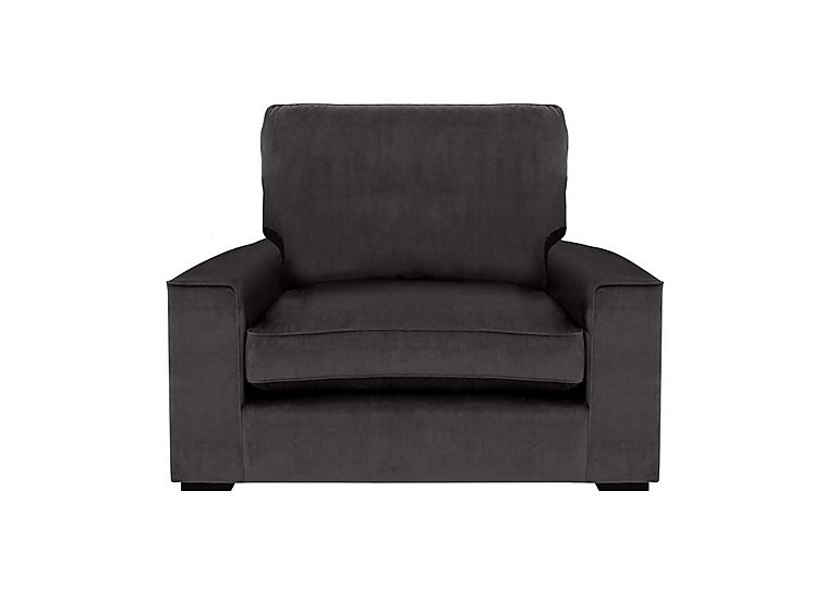 The Avenue Collection 5th Avenue Fabric Armchair in Plush Asphalt Bk Col 1 on FV