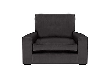 The Avenue Collection 5th Avenue Fabric Armchair in Plush Asphalt Bk Col 1 on Furniture Village