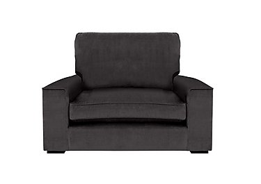 The Avenue Collection 5th Avenue Fabric Snuggler Armchair in Plush Asphalt Bk Col 1 on FV