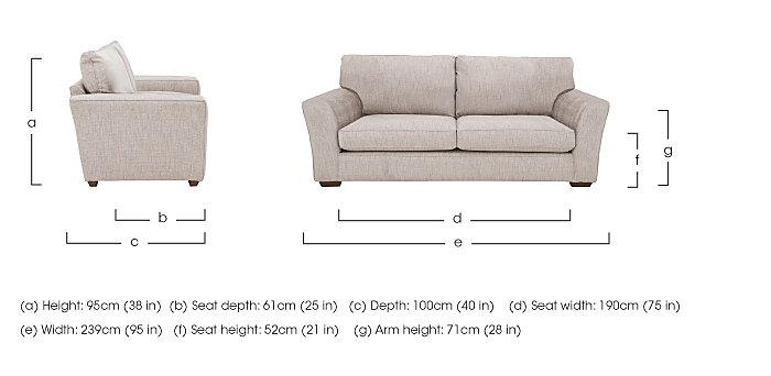 The Avenue Collection Madison Avenue 4 Seater Fabric Sofa in  on Furniture Village