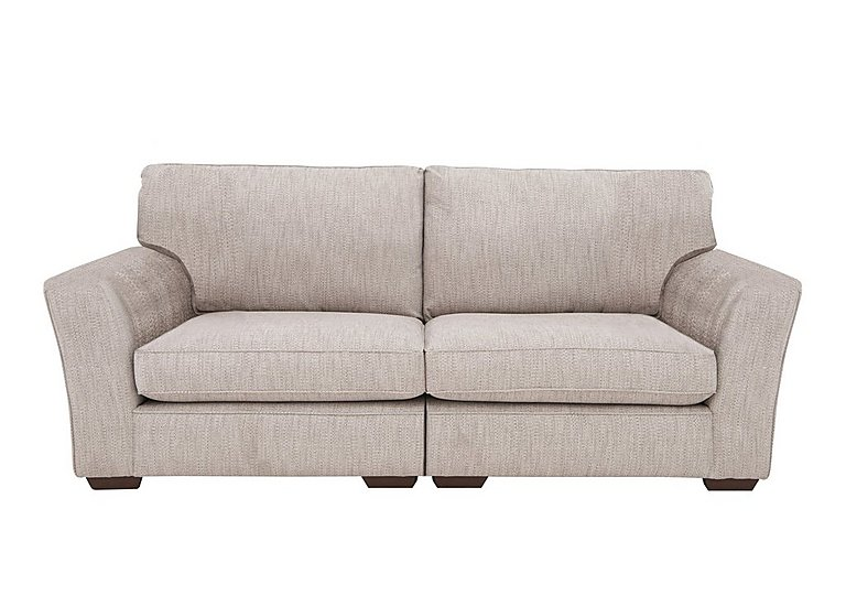 The Avenue Collection Madison Avenue 4 Seater Split Back Fabric Sofa in Carson Pebble Dk Col 3 on Furniture Village