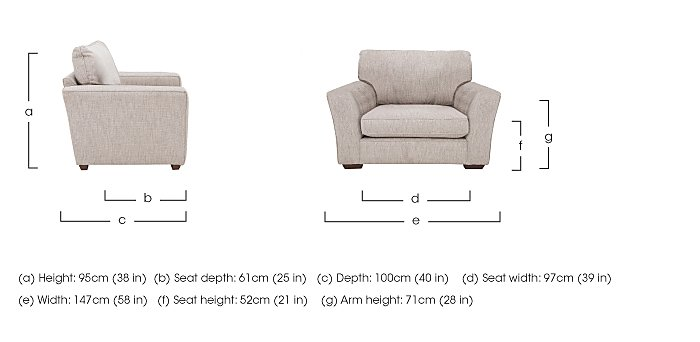 The Avenue Collection Madison Avenue Fabric Snuggler Armchair in  on Furniture Village