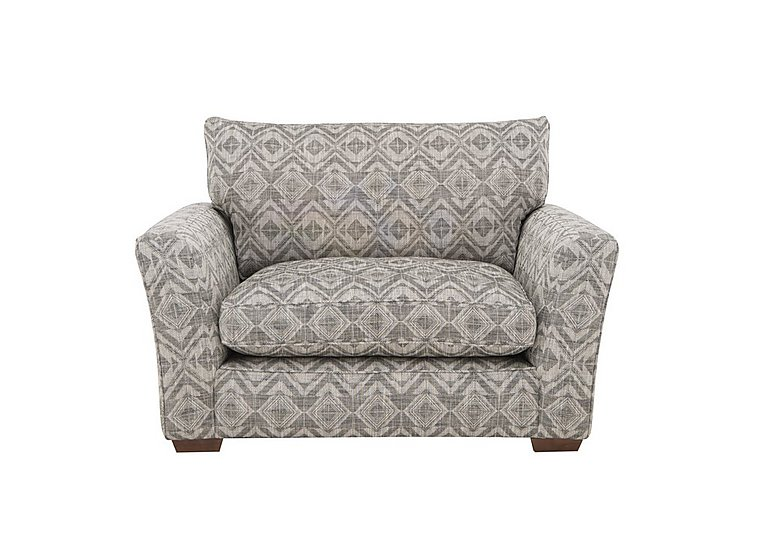 The Avenue Collection Madison Avenue Fabric Snuggler Armchair in Matal Diamond Charcoal Dk Col3 on Furniture Village