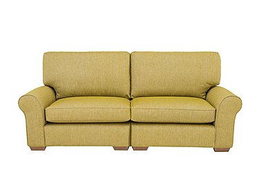 The Avenue Collection Park Avenue 4 Seater Split Back Fabric Sofa in Jersey Lime Lt Col 2 on FV