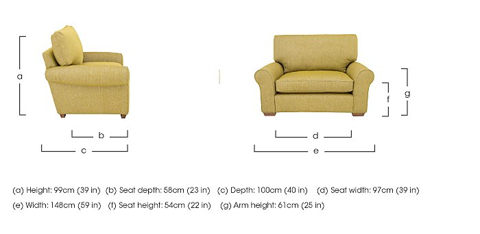 The Avenue Collection Park Avenue Fabric Snuggler Armchair in  on Furniture Village