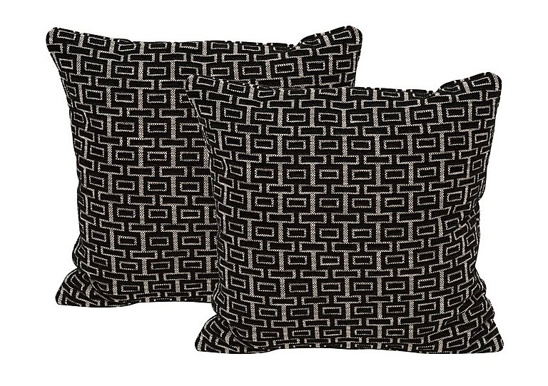 The Avenue Collection Fabric Pair of Scatter Cushion in Shania Black on Furniture Village