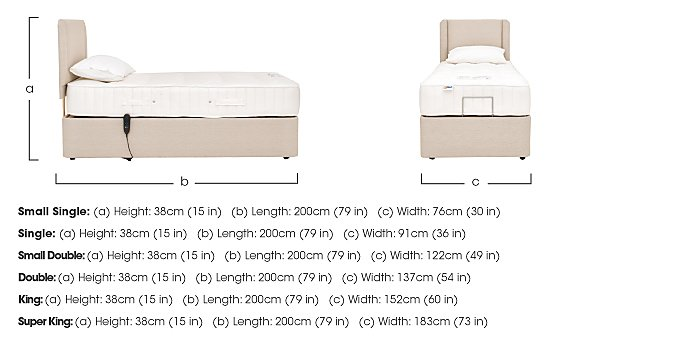 All Seasons Adjustable Bed in  on Furniture Village