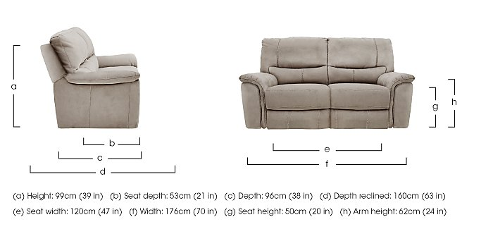 Relax Station Bliss 2 Seater Fabric Recliner Sofa in  on Furniture Village