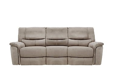 Relax Station Bliss 3 Seater Fabric Recliner Sofa in Bfa-Blj-R946 Silver Grey on Furniture Village